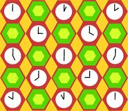 Clocks background Stock Image