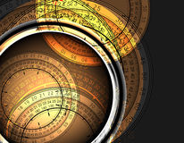Clocks background Stock Photos