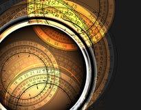 Clocks background Stock Photos