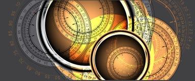 Clocks background Stock Photo