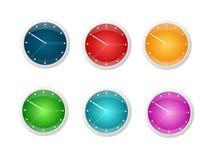 clocks blankt Arkivfoton