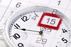 Clocks and calendar Royalty Free Stock Photos