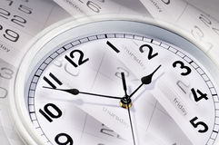 Clocks and calendar Stock Images