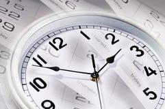 Clocks and calendar Stock Images