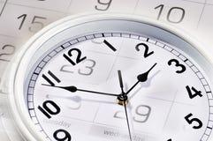 Clocks and calendar Stock Photo