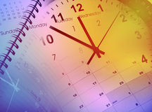 Clocks and calendars Royalty Free Stock Images