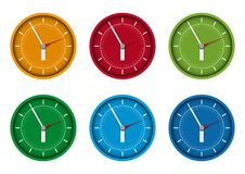A clocks. Clocks on a white background stock illustration