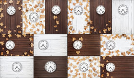 Clocks collage Stock Photo