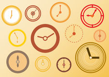 Clocks colorful time. Stock Photography