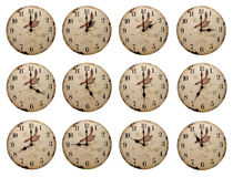 Clocks with different time Royalty Free Stock Images