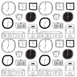 Clocks Drawing Stock Images