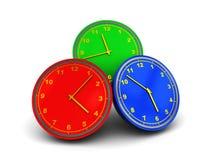 clocks färgrikt vektor illustrationer