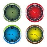 clocks färgrikt Royaltyfri Foto