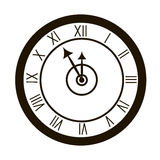 Clocks face dial watch alarm  illustration. Clock face icon isolated white background. Clocks, watch silhouette. Old, retro, Royalty Free Stock Photography
