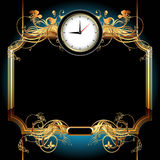 Clocks with floral elements Stock Images