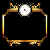 Clocks with floral elements Stock Photos