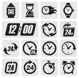 Clocks icons Royalty Free Stock Images