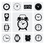 Clocks icons Royalty Free Stock Photo