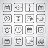 Clocks icons set Royalty Free Stock Photos