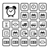 Clocks icons set Stock Photography