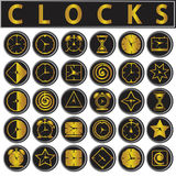 Clocks icons set royalty free illustration