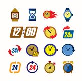 Clocks icons Stock Photo