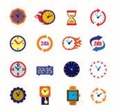 Clocks icons Royalty Free Stock Photography