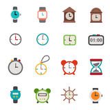 Clocks icons vector Royalty Free Stock Photo