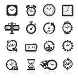 Clocks icons. Vector illustration Stock Photo