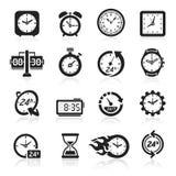 Clocks icons. Vector illustration. Clocks icons set. Vector illustration royalty free illustration
