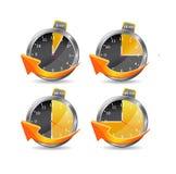 clocks illustrationtidmätaren Royaltyfria Foton