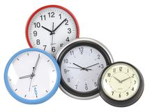 Clocks. Isolated Royalty Free Stock Images