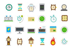Clocks isolated vector icons set Stock Images