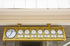 Clocks at mosque Royalty Free Stock Photos