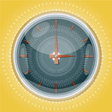 Clocks with pattern. Royalty Free Stock Photo