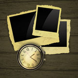 Clocks with photos Stock Images