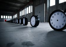 Timepieces with double door in warehouse stock photo