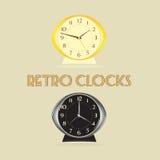 clocks retro Arkivbilder