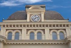 Clocks on building top Royalty Free Stock Photos