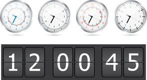 Clocks set Stock Images