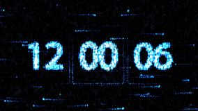 Clocks are set at 12:00 starting a new countdown. The countdown on the computer screen. Zero countdown stock video footage