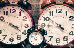 Clocks showcased in a Shop Royalty Free Stock Photo