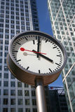 Clocks and Skyscrapers Royalty Free Stock Photos
