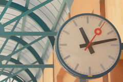 Clocks at the station Stock Photography