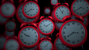 Clocks ticking in high speed stock video footage