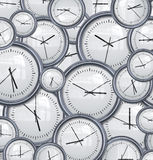 Clocks and time background. Lots and lots clocks for a great time background stock illustration