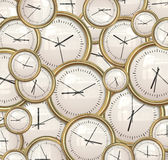 Clocks and time background. Lots and lots clocks for a great time background royalty free illustration