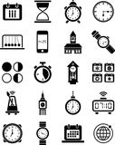 Clocks and time icons. This is a collection of clocks and time icons Royalty Free Stock Photo