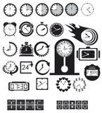 Clocks, time icons set Stock Photo
