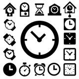Clocks and time icons set Royalty Free Stock Photography